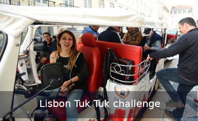 Tuk tuk challenge Lisbon team building